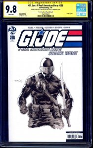 G.I. Joe #266 BLANK CGC SS 9.8 signed ORIGINAL SNAKE EYES SKETCH Netho Diaz
