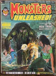 MONSTERS UNLEASHED #3 (11/1973,Marvel) FINE (F) Neal Adams Man-Thing Cover!