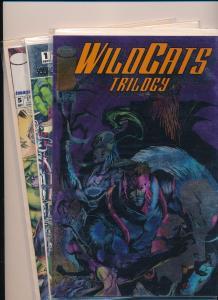 Image Comics Mixed Lot - WILDCATS Trilogy#1 Sourcebook #1 & #5 NM (SRU111)