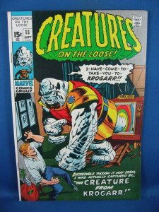 Creatures on the Loose #13 (Sep 1971, Marvel) VF+