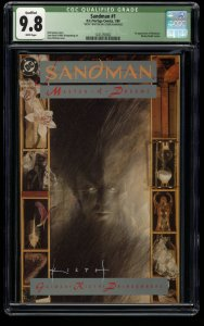 Sandman (1989) #1 CGC NM/M 9.8 White Pages Signed by Sam Keith!