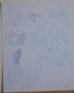 DOUGLAS PASZKIEWICZ original art, ARSENIC LULLABY BIG STALL pg 50, 11x14, prelim