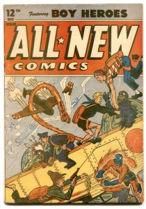 All New Comics #12 1946- Hitler appearance- Schomburg WWII cover restored FN-