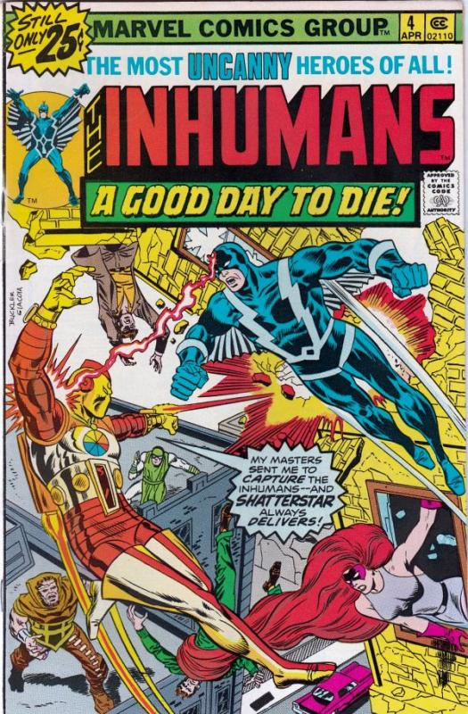 Inhumans, The #4 (Apr-76) NM- High-Grade Black Bolt, Gorgon, Triton, Karnak, ...