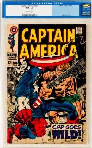 Captain America #106 CGC Graded 9.2