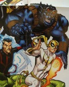 A + X AVENGERS X-MEN Promo Poster, 24 x 36, 2012, MARVEL, Unused 276