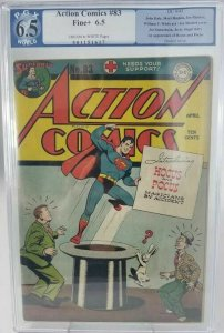 Action Comics #83~1945 DC~PGX 6.5 (FN+)~1st Appearance of Hocus and Pocus