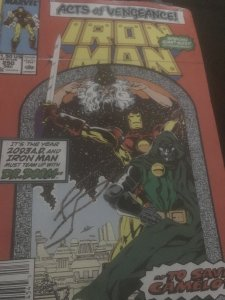 Marvel Iron Man #250 Mint Acts of Vengence
