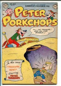 PETER PORKCHOPS #18 1952-DC COMICS-TREASURE HUNT ISSUE-OTTO FEVER ART-vg