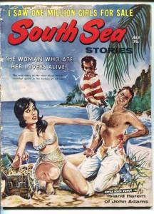 SOUTH SEA STORIES-JULY 1960-VIOLENT-GOOD GIRL ART-SPICY STORIES-good