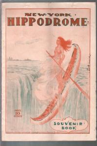 New York Hippodrome Souvenir Book 1910-spicy Indian girl cover-Archie Gunn-VF