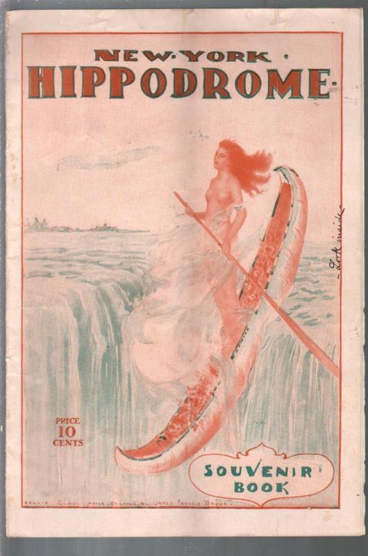 New York Hippodrome Souvenir Book 1910-spicy Indian girl cover-Archie Gunn-VF