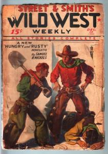 WILD WEST WEEKLY-12/17/1932-PULP-HUNGRY AND RUSTY FR