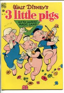 THREE LITTLE PIGS #218 1948-DELL-FOUR COLOR COMICS-DISNEY-MAGIC LAMP-fn/vf