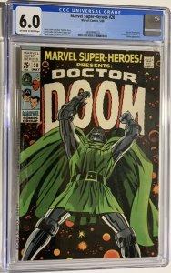 Marvel Super-Heroes #20 Presents Doctor Doom (1969) CGC Graded 6.0