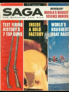 SAGA MAGAZINE JUNE 1962-7 TOP GUNS-SCIENCE BONERS VG