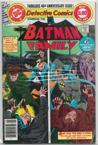 Detective Comics   vol. 1   #483 VG Batman Family