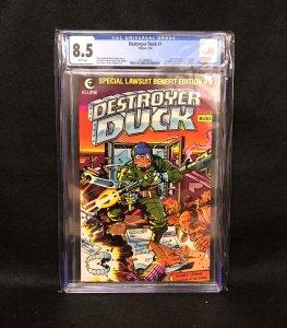Destroyer Duck #1 (Eclipse, 1982) CGC 8.5 - 1st Groo the Wanderer