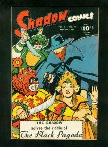 SHADOW COMICS v.6 #11 1947-BLACK PAGODA-STREET & SMITH-very fine minus VF-