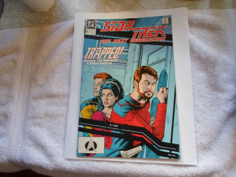 1989 DC COMIC STAR TREK THE NEXT GENERATION TRAPPED # 3