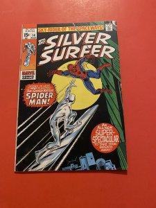 The Silver Surfer #14 (1970) 1st  Spiderman vs surfer