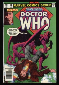 Marvel Premiere #58 VF/NM 9.0 Comics Doctor Who!