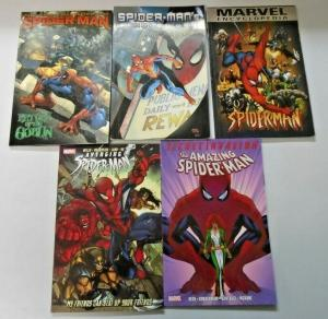Spider-Man TPB Trade Paperback lot 5 different books condition N/A (years vary)