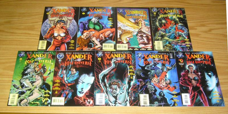 Gene Roddenberry's Xander in Lost Universe #0 & 1-8 VF/NM complete series set