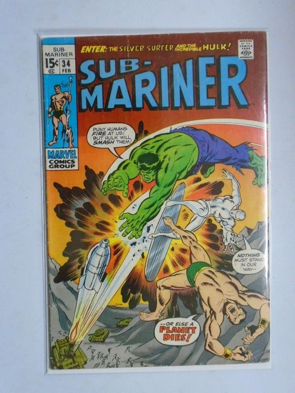 Sub-Mariner (1st Series) #34, 4.0 (1971) W/ Silver Surfer and the Hulk