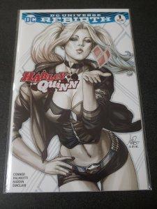 Harley Quinn Rebirth 1 Artgerm Stanley Lau B&W Variant
