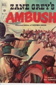 ZANE GREY AMBUSH-FOUR COLOR #314 1950-DELL COMICS VG
