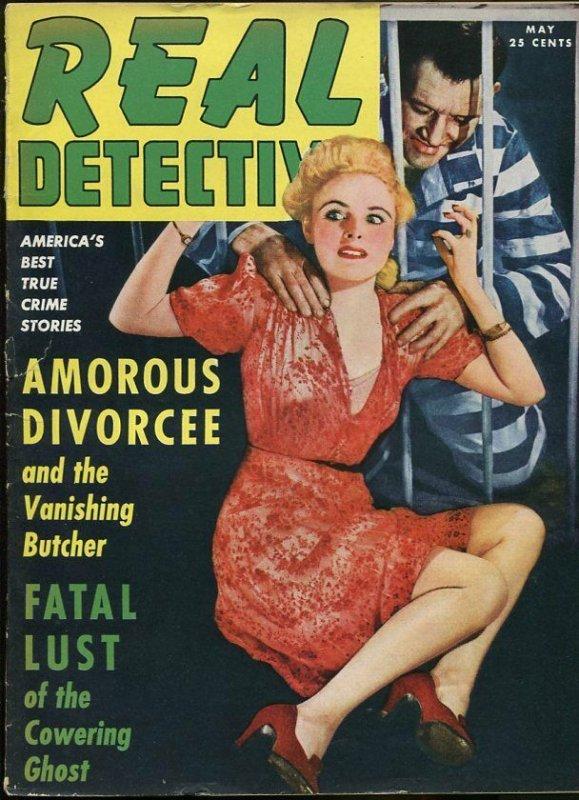 REAL DETECTIVE MAY 1942-WILD TRUE CRIME-PULP-MAGAZINE-CONVICT MENACES BABE VG