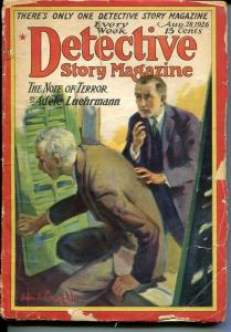 DETECTIVE STORY MAGAZINE-AUG 28 1926-LEUHRMANN-LIVINGSTON-KREBS-good minus G-
