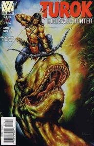 Turok, Dinosaur Hunter #35 VF/NM; Valiant | save on shipping - details inside