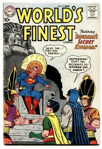 WORLD'S FINEST #111 1960 comic book SUPERMAN/BATMAN/ROBIN