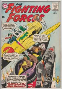 Our Fighting Forces #81 (Jan-64) FN/VF Mid-High-Grade Gunner and Sarge, Pooch