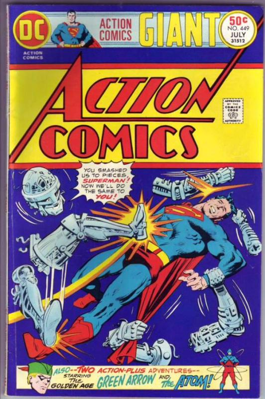 Action Comics #449 (Jul-75) VF High-Grade Superman