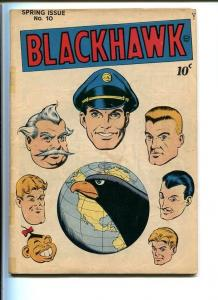BLACKHAWK COMICS #10-QUALITY-1946-REED CRANDALL ART-GLOBE COVER-SECOND ISSUE VG