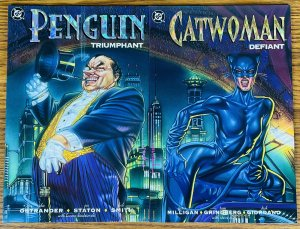 LOT OF 2 PENGUIN TRIUMPHANT & CATWOMAN DEFIANT DC COMICS 1992 DC Comics Batman