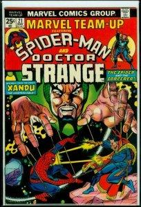 MARVEL TEAM-UP #22, VF+, Spider-Man, Dr Strange, Xandu, 1972 1974, more in store
