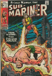 Sub Mariner #17 ORIGINAL Vintage 1969 Marvel Comics The Stalker