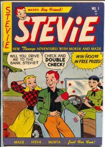Stevie #1 1952-1st issue-Mazie's Boy Friend-Good Girl Art-VG+