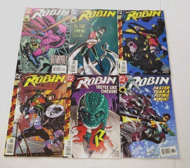 Robin Comic Book Lot of 6 (issues) DC Comics see more comic lots (ID#001)