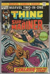 MARVEL TWO IN ONE 2 VG Mar. 1974  SUBMARINER
