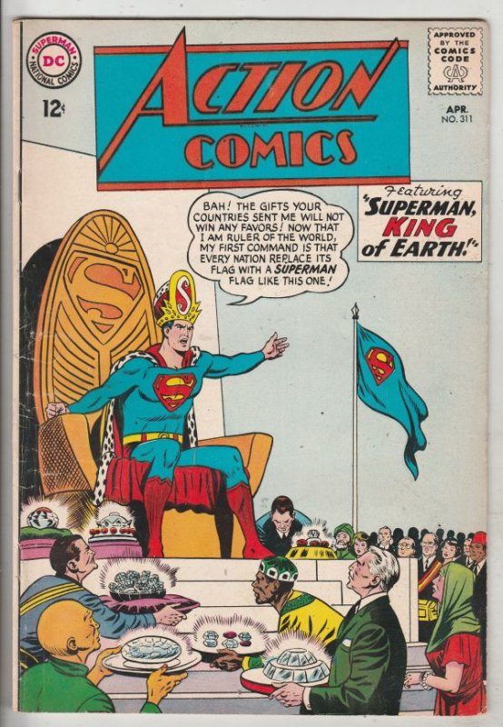 Action Comics #311 (Apr-64) VF+ High-Grade Superman, Supergirl
