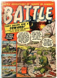 BATTLE #1 1955-DYNAMITE COVER-ATLAS WAR COMICS KOREA FR