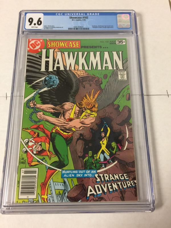 Showcase 102 Cgc 9.6 White Pages Second Bronze Age Hawkman