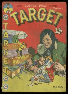 TARGET V.3 #10 1942-LAST WOLVERTON ISSUE-INFINITY COVER G-