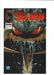 Spawn #4 VF/NM 9.0 Image Comics Todd McFarlane w/ Coupon, Violator