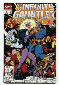 Infinity Gauntlet #6 1991 Thanos- Warlock- George Perez- Starlin NM-